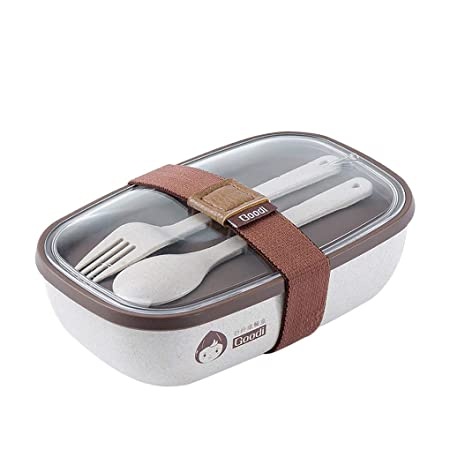 YJJY Bento Box Fiambreras Lunchbox, Eco-Friendly Biodegradable ...