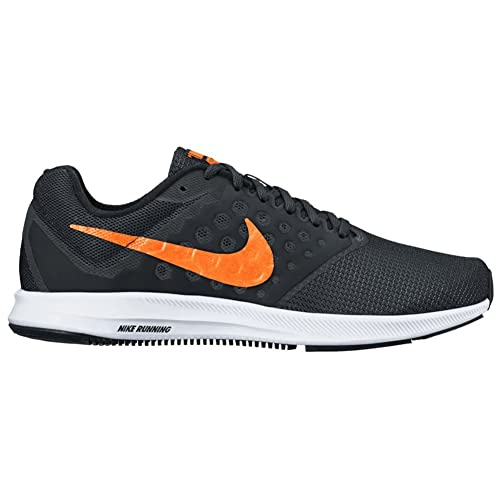 94ac4f4dcf5a0 Nike Downshifter 7 Black Total Orange White Men s Running Shoes  Buy Online at  Low Prices in India - Amazon.in