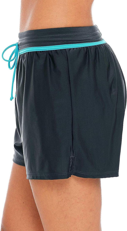 Anwell Damen Badeshorts Wassersport Schwimmhose uv Schutz Bikinihose Schwimmshorts