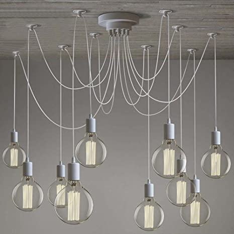Diy Pendant Lighting Kit Susuo Lighting Modern Chic Multi Pendant Chandelier Adjustable Diy Ceiling Spider Pendant Lightingcolor White Amazoncom Susuo Lighting Modern Chic Multi Pendant Chandelier Adjustable Diy