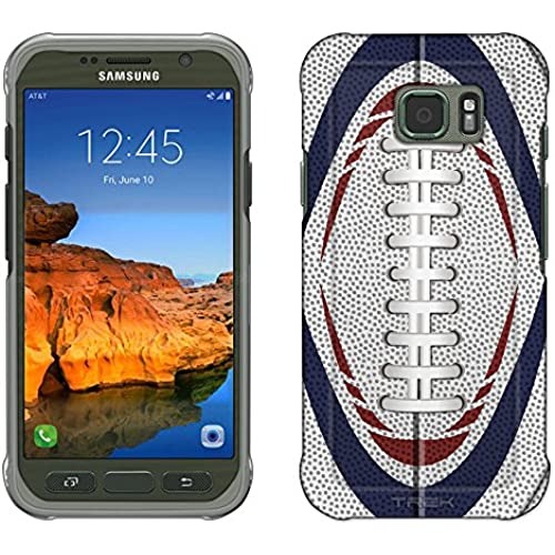 Samsung Galaxy S7 Active Case, Snap On Cover by Trek Football Laces Red White and Blue Slim Case Sales