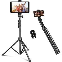 Selfie Stick & Phone Tripod, Sensyne 67' Extendable Travel Tripod Stand with Universal…