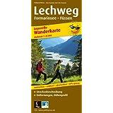 Lechweg Formarinsee - Füssen: Wanderkarte Leporello mit Streckenbeschreibung, Entfernungen, Höhenprofil wetterfest, reißfest, abwischbar, GPS-genau. 1:25000 (Wanderkarte / WK)
