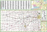 36x52 Kansas State Official Executive Laminated Wall Map