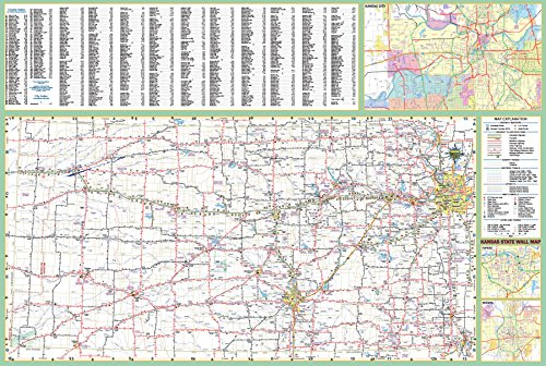 36x52 Kansas State Official Executive Laminated Wall Map ()