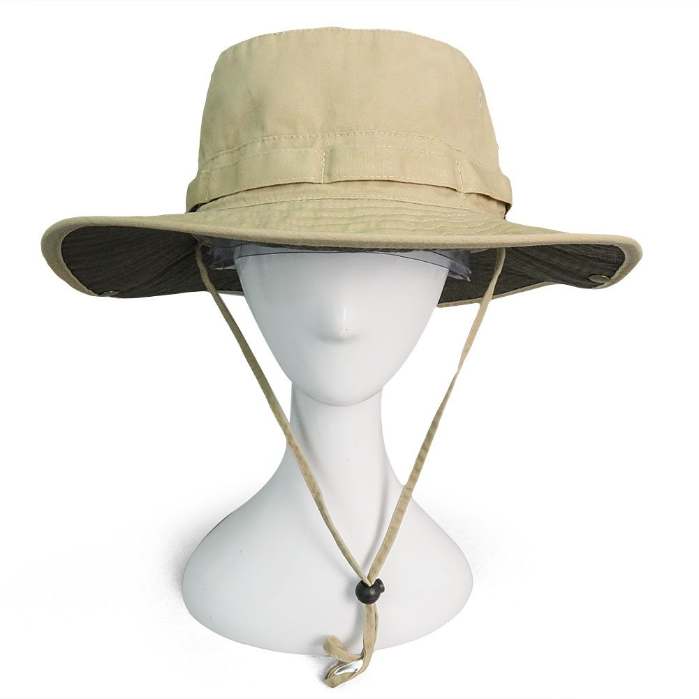 Phaiy 100% Cotton Booney Fishing Bucket Men Safari Summer String Hat Cap