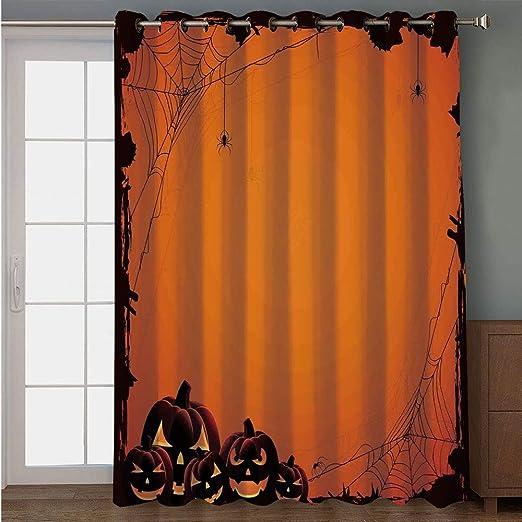 iPrint cortina para puerta de patio, decoración de Halloween ...