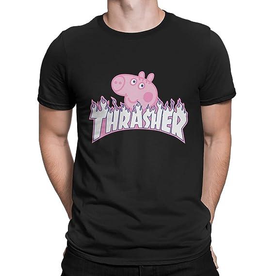 0bf3e3ff6d1a Amazon.com  Thrasher Peppa Pig T-Shirt  Clothing