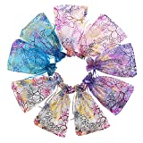 light blue and purple candy - SumDirect Mixed Color Coralline Organza Gift Bags, Wedding Favor Party Jewelry Candy Pouches,5x7 Inches,Pack of 100
