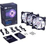 Cooler Master MasterFan Pro 120 Air Flow RGB- 120mm High Air Flow RGB Case Fan, 3 In 1 with RGB LED Controller, Computer Cases CPU Coolers and Radiators