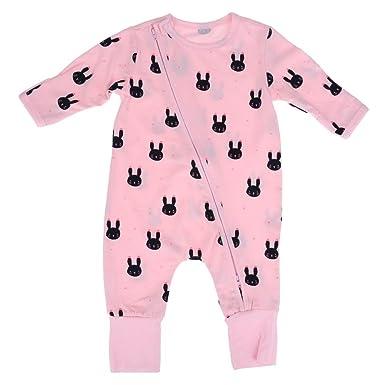 2a35dc440 Silveroneuk Baby Long Sleeve Romper Newborn Girl Boy Cartoon Rabbit ...