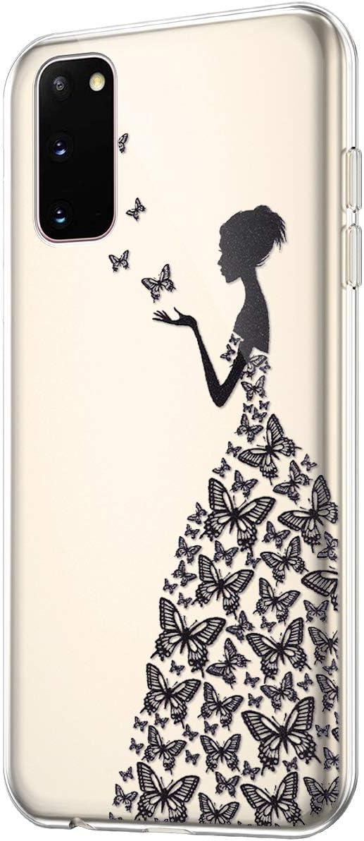 Surakey Cover per Samsung Galaxy S20,Custodia Trasparente Morbida TPU Silicone Creativo Disegno Case Ultra Slim Crystal Clear Gomma Bumper Protettiva Cover per Samsung Galaxy S20,Acchiappasogni