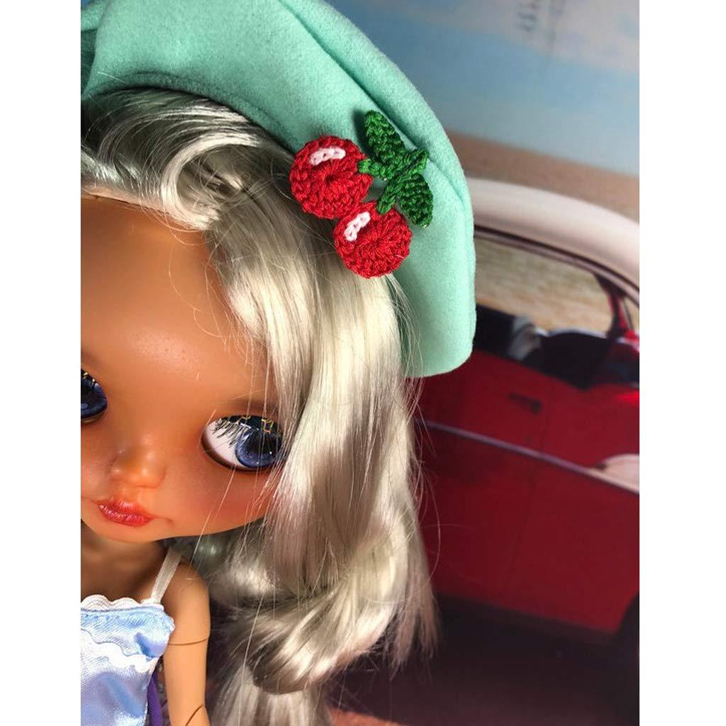 Vintage Doll Cap Woolen Beret Hat for 1//6 Blythe Doll Clothes or Other Dolls