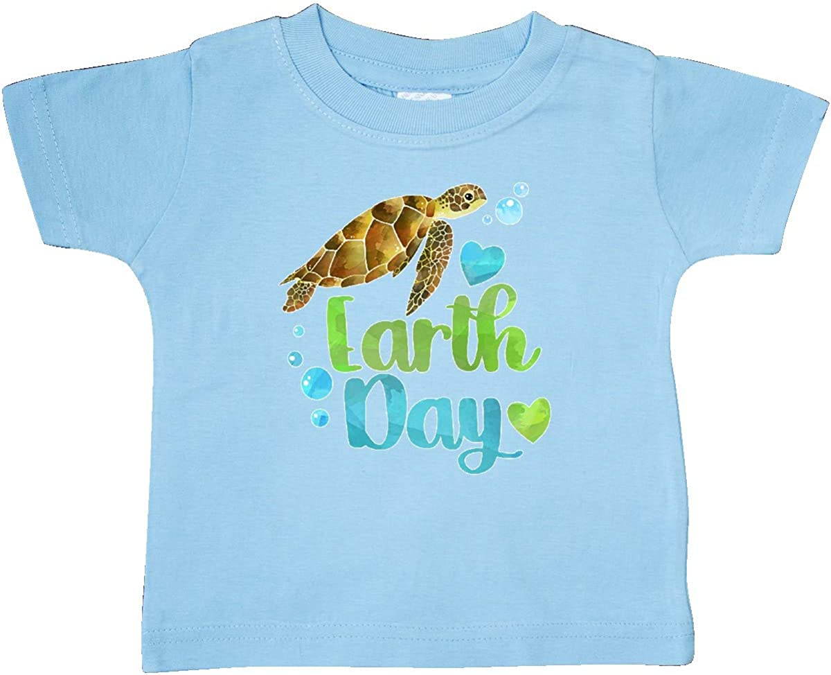 inktastic Earth Day Sea Turtle and Hearts Baby T-Shirt