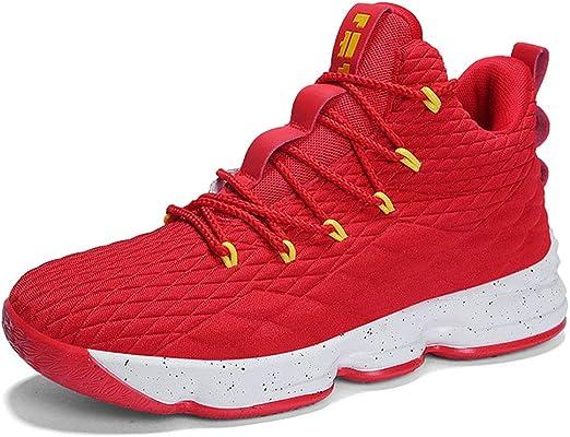 SSCJ Zapatos de Baloncesto Zapatillas Altas de Moda para Hombre ...