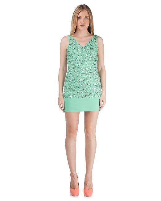 finest selection 3790e 8bbe7 Silvian Heach - Vestito - Donna VERDE MELA: Amazon.it ...