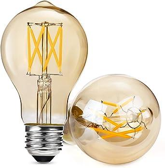 Albrillo Regulable E27 LED, Equivalente a 40 W, Filamento Bombilla ...
