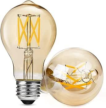 Albrillo Regulable E27 LED, Equivalente a 40 W, Filamento Bombilla Retro Edison Vintage, Blanco Cálido, 5W Warmweiss, E27, 5.00 wattsW, 230.00 voltsV [Clase de Eficiencia Energética A+]: Amazon.es: Iluminación