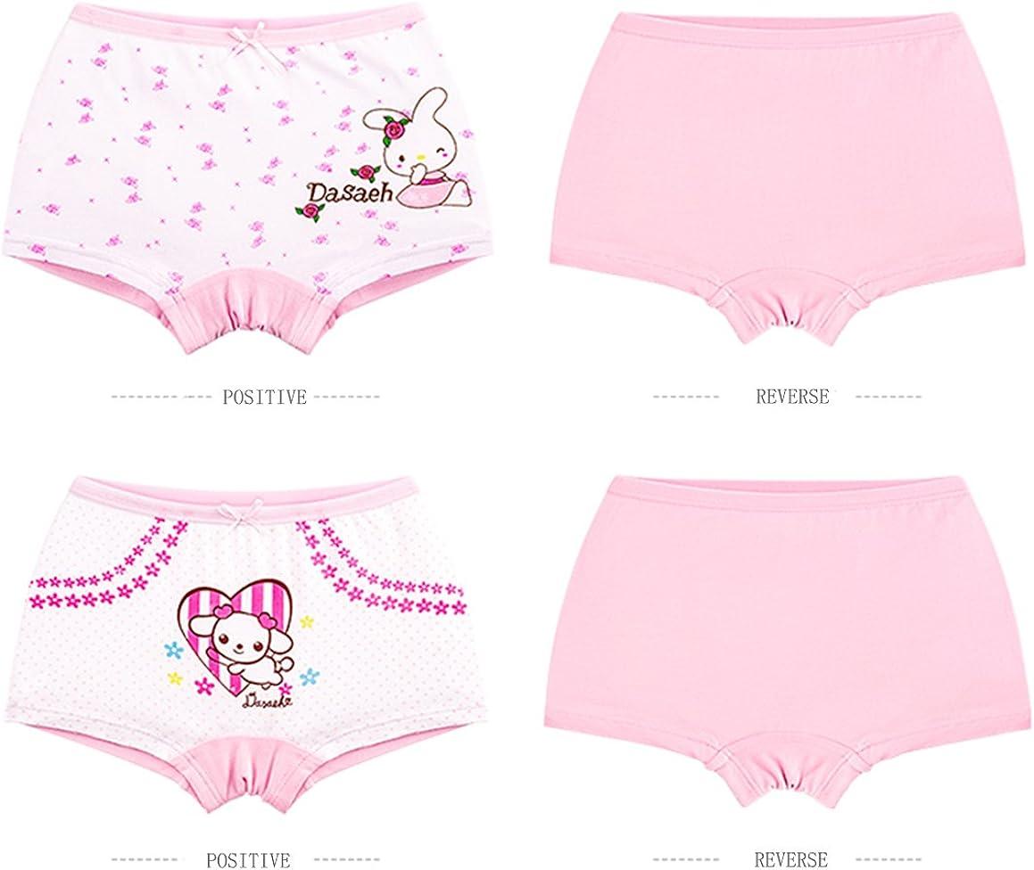 LeQeZe De 6 Fille Panty Culotte Filles Shorty Enfants Coton Boxer Slip sous-V/êtement 2-11 Ans