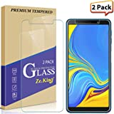 Zeking [2-Pack] Samsung Galaxy A7/ A750 (2018) Screen Protector Tempered Glass Drop Deference [Anti-Fingerprint] Bubble Free