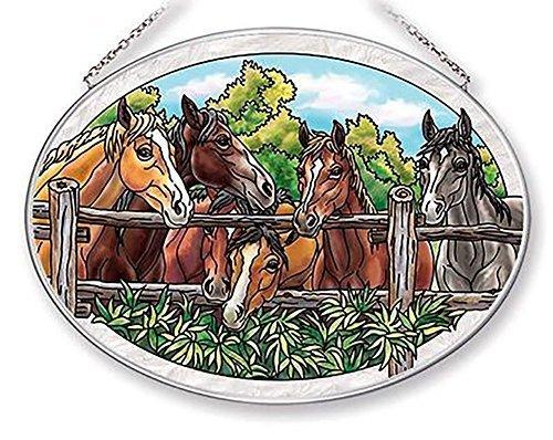 Amia Morning Meeting Horse Glass Sun Catcher, 9