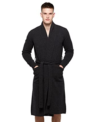 Cashmere Merino Dressing Gown at Amazon Men\'s Clothing store: