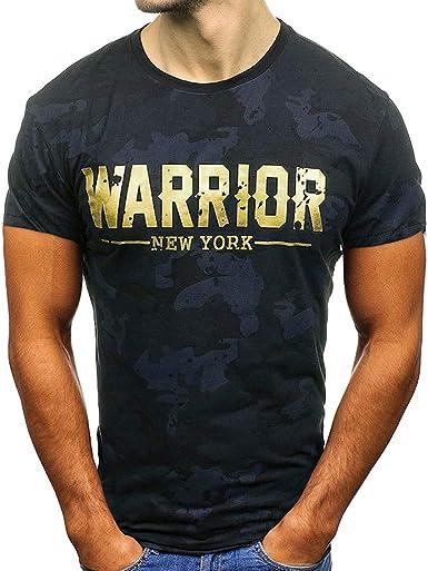 Camiseta de Manga Corta para Hombres Camuflaje Moda Estampado ...