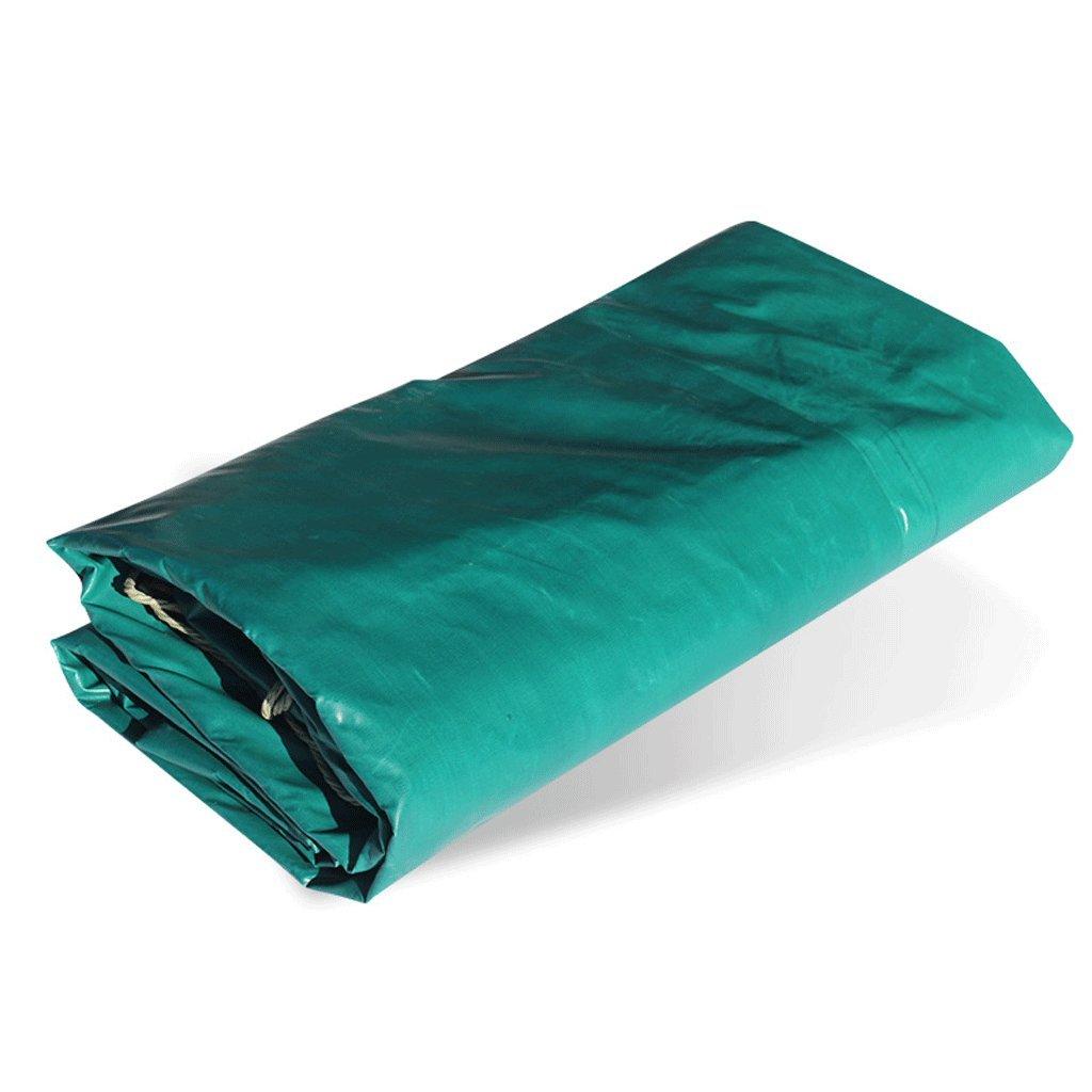 難燃性ファブリック難燃性ファブリックタパリン厚い消火布三つの布クロスサンシェード防水布グリーン(250g/m²) (サイズ さいず : 3 * 4m) B07F3VYR1M 3*4m  3*4m
