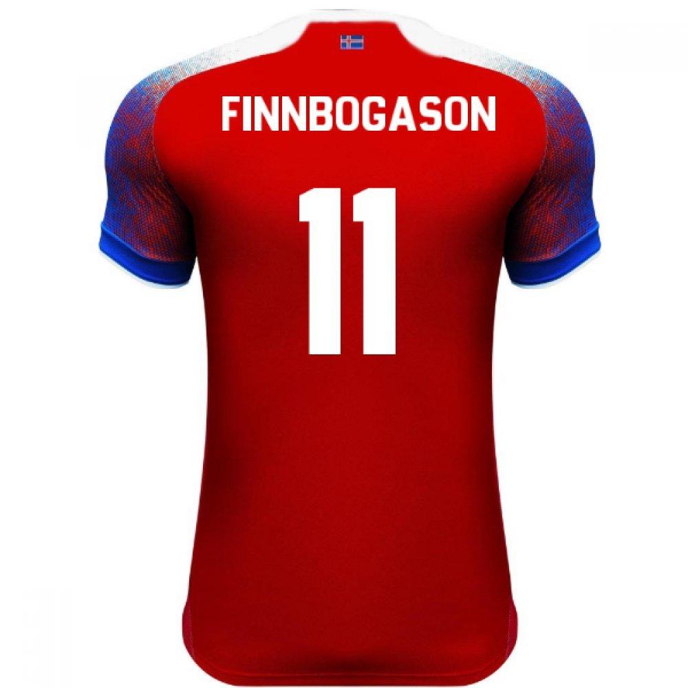 2018-2019 Iceland Third Errea Football Soccer T-Shirt Trikot (AlfROT Finnbogason 11)