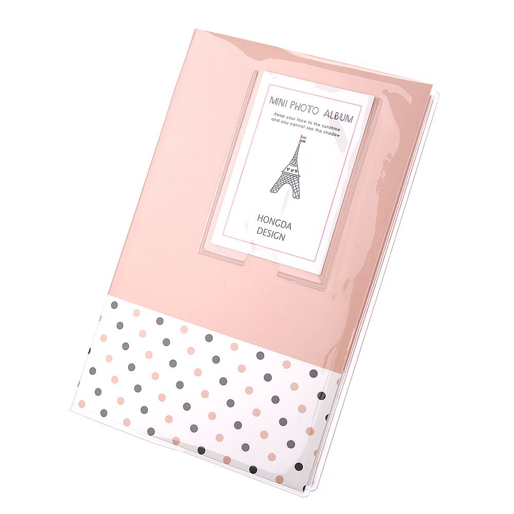 HuaYang 84 poches Mini photos album photos cas pour Fujifilm Instax Polaroid - Polka Dots