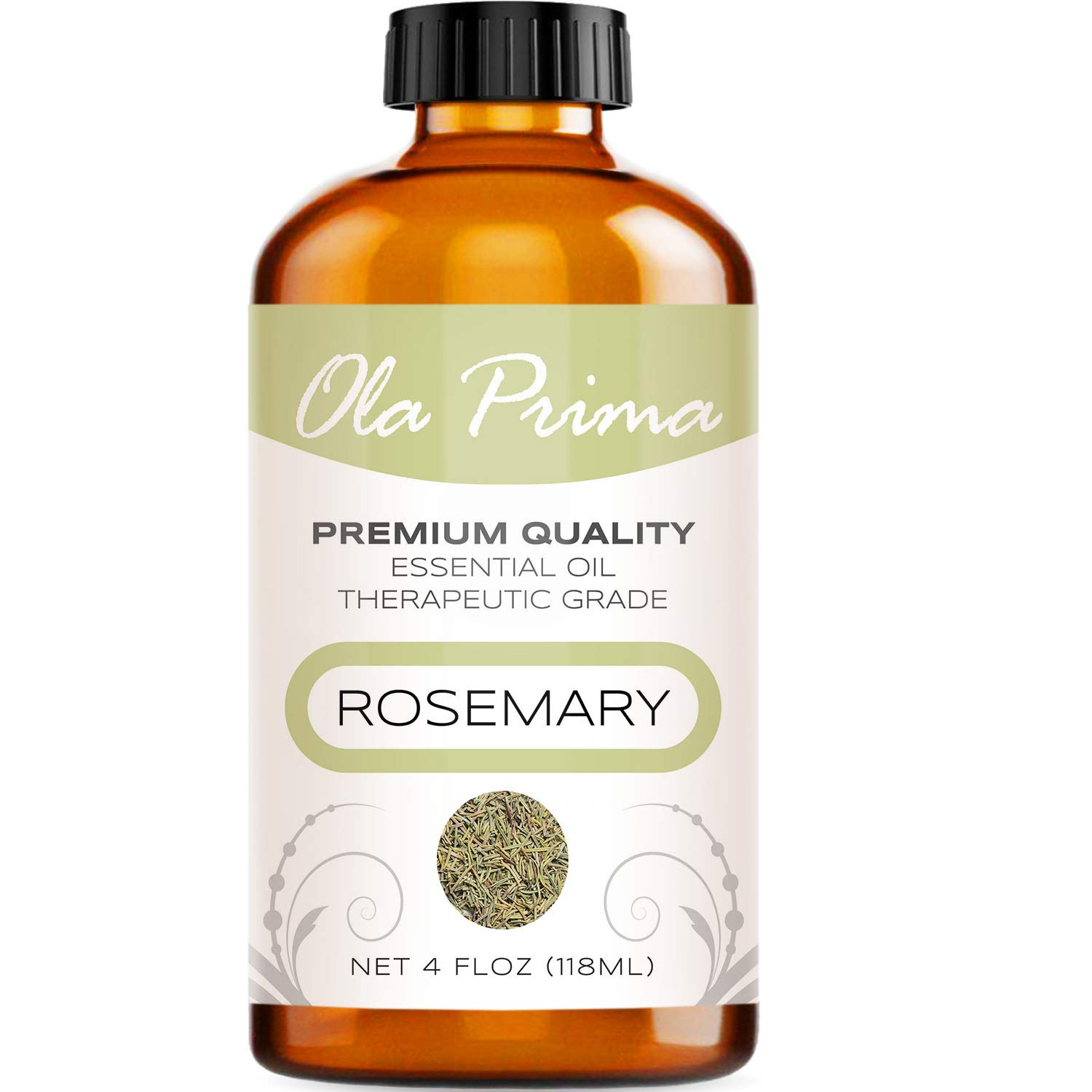 Ola Prima 4oz - Premium Quality Rosemary Essential Oil (4 Ounce Bottle) Therapeutic Grade Rosemary Oil