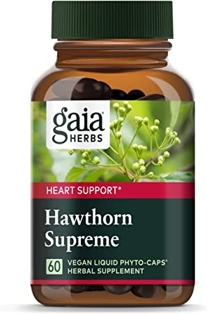 Gaia Herbs Hawthorn Supreme, Vegan Liquid Capsules, 60 Count - Promotes Heart Health & Stimulates Healthy Circulation, Organic Hawthorn Berry, Leaf & Flower Extract