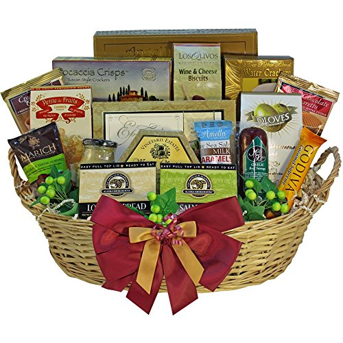 Grand Edition Gourmet Food and Snacks Gift Basket, Large (Chocolate Option) (Wine And Chocolate Hampers)