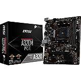 MSI A320M Pro-E - Placa Base (Chipset AMD A320, DDR4 Boost, Realtek LAN, Audio Boost, VGA, VR Ready, Click BIOS 5, soporta AMD pocesadores) Color Negro