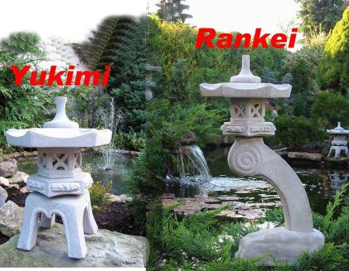 Japanische Steinlaternen Rankei & Yukimi Garten Laterne Koi Teich ...2 Stück!!!