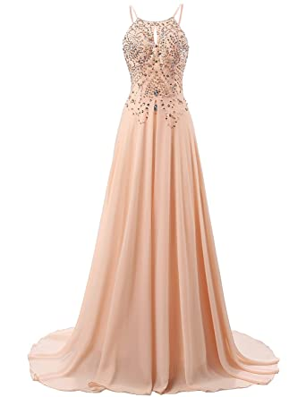 Sarahbridal Long Evening Dresses for Women Ball Gowns Elegant Prom Dress Bridesmaid Dresses SSD132 Blush Size
