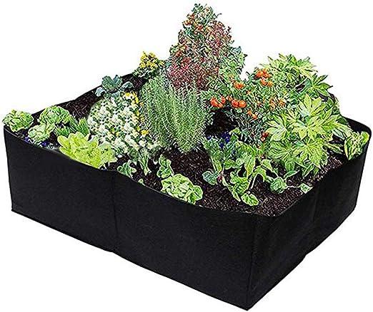 heDIANz Fieltro Tela 4 Rejillas Jardín Vegetales Plantación Recipiente Crecer Bolsa Maceta: Amazon.es: Jardín