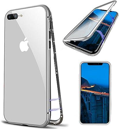 Cover iPhone 8 Plus, [Adsorbimento Magnetica] Custodia iPhone 7 ...