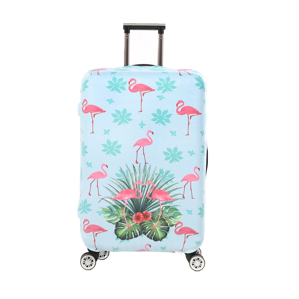 09d95d34d62f Fvstar Flamingos Washable Luggage Cover Spandex Suitcase Protector Travel  Baggage Covers for Christmas Thanksgiving Gifts