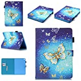 iPad Mini 4 Case, Dteck(TM) Smart Case Cover with Auto Sleep/Wake Function Firm Stand Position Cover Magnetic Closure Cards Slots and Wallet Shell for Apple iPad Mini 4th Tablet,Glitter Butterfly
