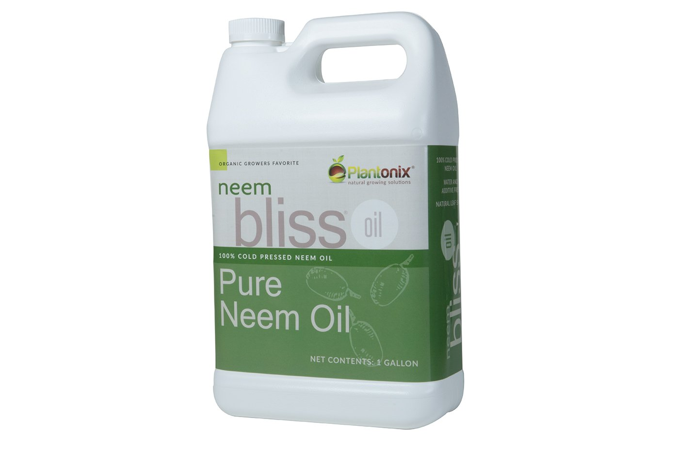 Organic Neem Bliss 100% Pure Cold Pressed Neem Seed Oil (1 Gallon) OMRI Listed for Organic Use by Neem Bliss
