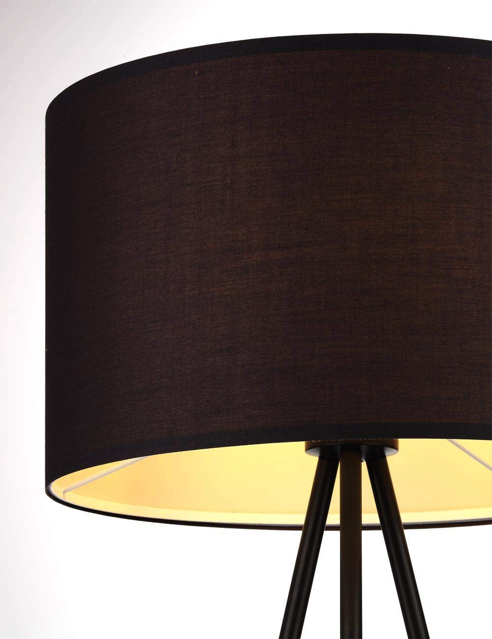 Zeitnah Tripod Standleuchte Skandinavischer Stil mit Textilschirm,/ø 45 cm H/öhe:150 cm E27-Fassung Grau MEHRWEG Schlafzimmer Lampe Modernluci Stehlampe Stativ Modern Stehleuchte f/ür das Wohnzimmer