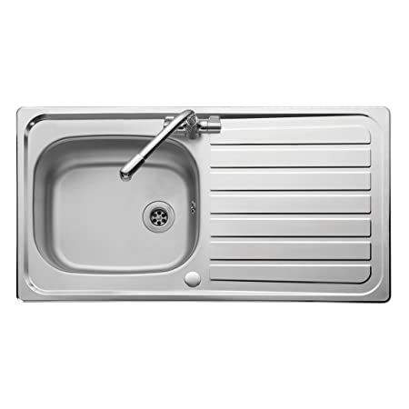 Leisure Lexin LE95SB 950x508mm Single Reversible Shallow Bowl Kitchen Sink  In Stainless Steel With Satin Bowl