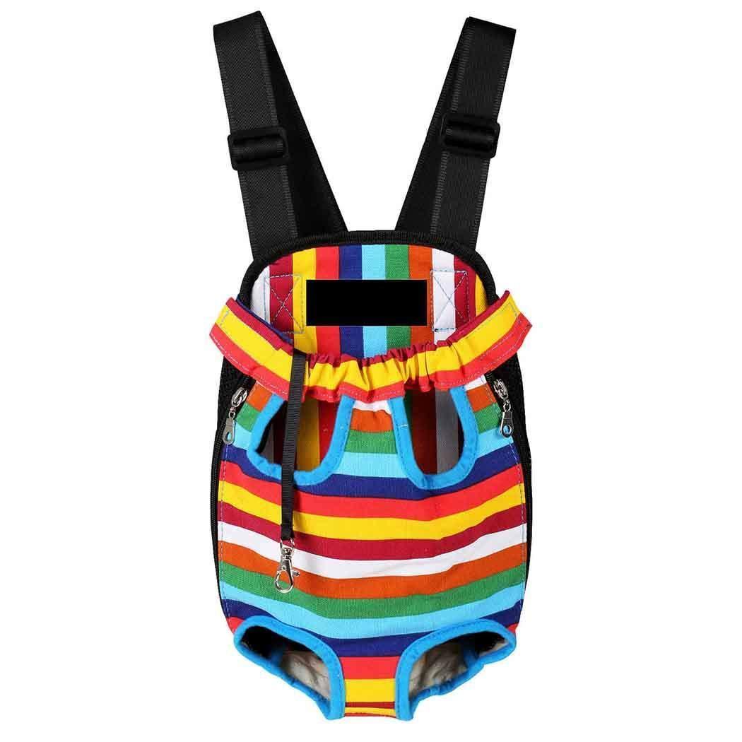 4 Large  4 Large MinGe Travel Portable Shoulder Bag Breathable Pet Backpack for Small Cat and Dog