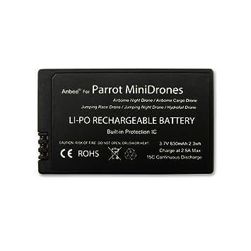 Anbee 3.7v 630mAh LiPo Batería 1 pieza para Parrot Minidrones ...