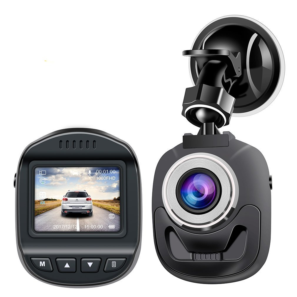 Dash Cam Car Camera Accfly Mini Dashboard HD 1080P Dirving Video Recorder 1.5' Screen 120° Wide Angle WDR Motion Detection Loop Recording G-Sensor R-093CZ