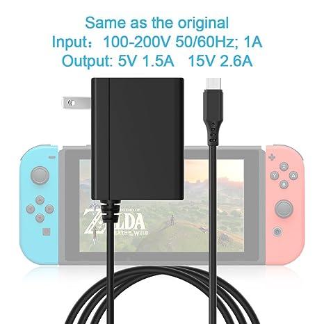 Rocketek - Adaptador de alimentación USB C para Nintendo ...