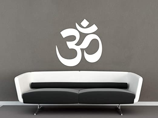 pegatina de pared Yoga Wall Vinilos Paredes Om Sticker Ohm ...