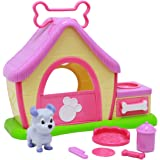 Boley puppy toy for kids - Pretend play dog playset for girls with 8 unique pieces, vibrant colors and portable carrying handle makes this the perfect eductional toy!