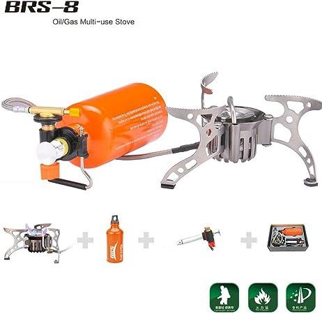 BRS 8 - Horno portátil de Combustible, para Exteriores, con Aceite, Gas y Estufa de Gas